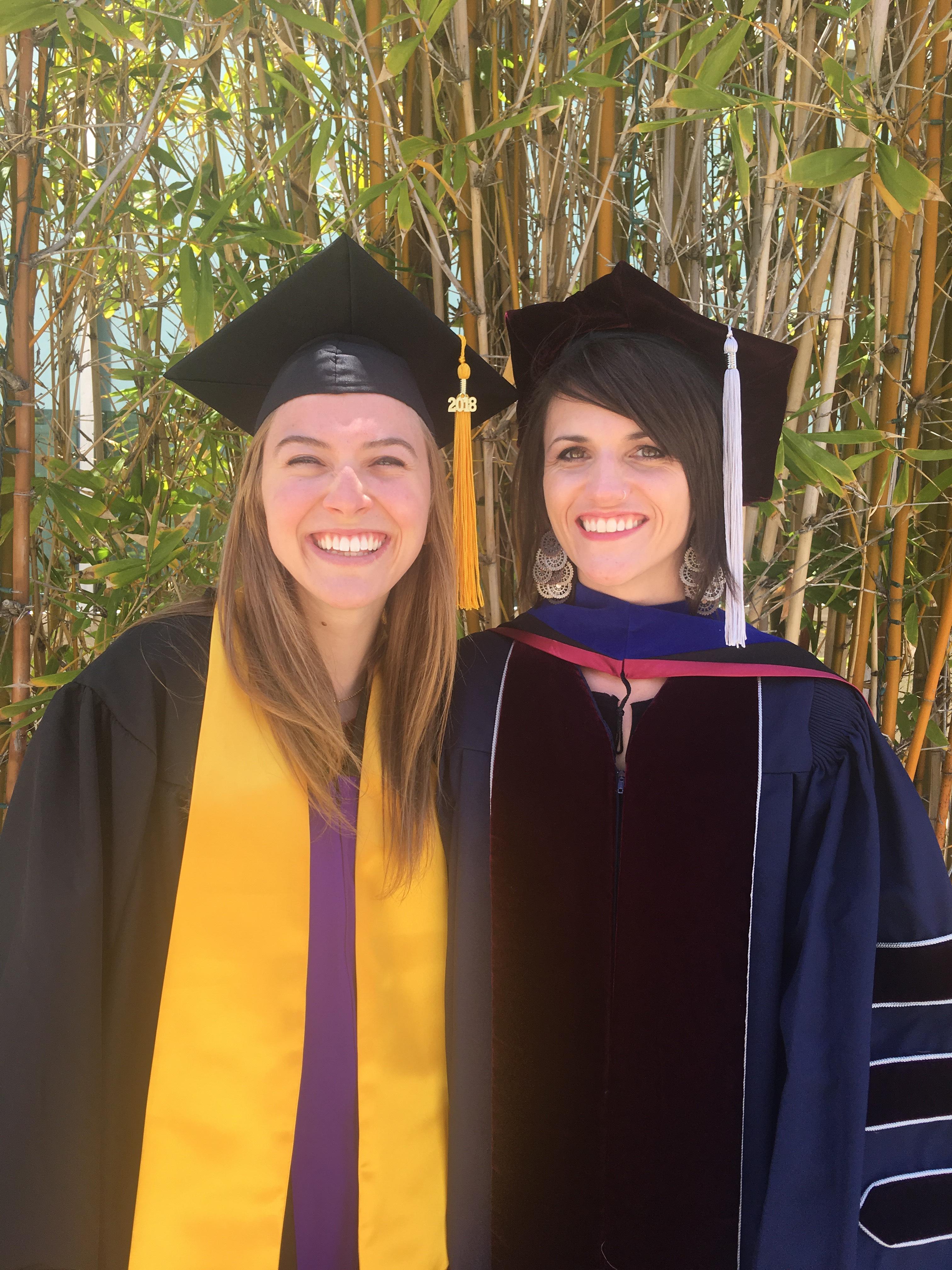 Beka and Blythe graduating